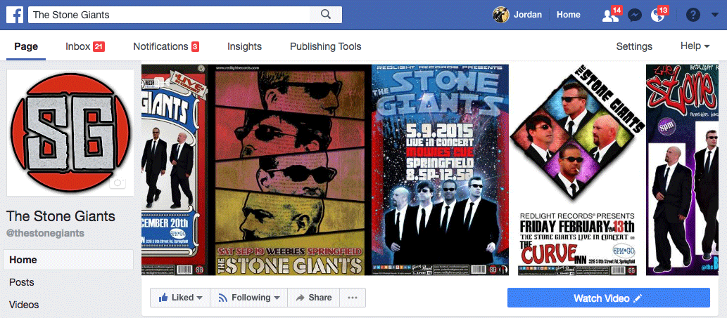 The Stone Giants Facebook Page
